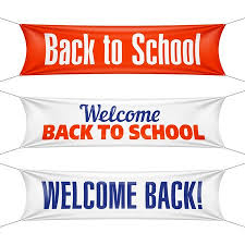 Welcome Back To School Banners Royalty Free Vector Graphics
