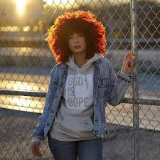 sun set red natural hair color idea for 2017