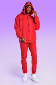 Eligible for free shipping and free returns. Man Bungee Cord Tracksuit Boohoo Uk