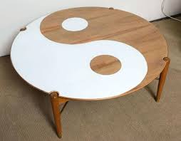 ying yang coffee tables yin and yang mid century modern round walnut coffee table throughout yin