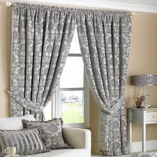 paoletti hanover chenille jacquard pencil pleat curtains silver 66 x 90 inch linens limited