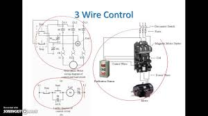 wire & 3 wire motor control circuit 3 Wire Switch Wiring Diagram Wire Light Switch