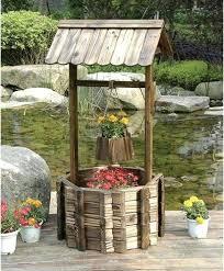 outdoor garden decor. rustic backyard decor awesome wishing well garden planter outdoor wooden .