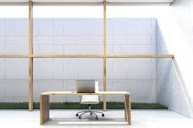 Ceo Office Design Classy Front View Of A CEO Office With Large Glass And Wooden Wall Stock