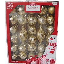 Holiday Time Traditional Shatterproof Christmas Ornaments, Set of 56 -  Walmart.com