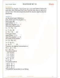 chapter 3 pair of linear equations in two variables part 1