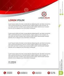 Professional Company Letterhead Professional Letterhead Templates Vector Illustration Stock