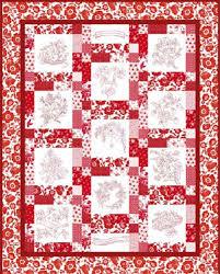 Download the pattern for RJR Fabrics Redwork Garden quilt ... & Download the pattern for RJR Fabrics Redwork Garden quilt Christmas Quilt  Patterns Free Download Adamdwight.com