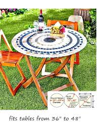 elastic patio table covers inch patio table round patio table mosaic tile elastic fitted vinyl outdoor