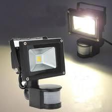 10W Warm White 800LM PIR Motion Sensor Outdoor Flood <b>Light</b> ...