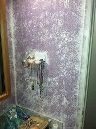 Bathroom Wall Paint Beautiful Ugly Purple Sponge Paint Bathroom Wall Becu Project