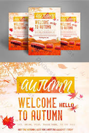 Meet And Greet Flyers Templates Golden Greeting Autumn Business Promotional Flyer Template