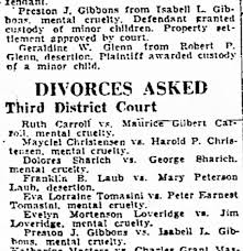 Preston & Isabell Gibbons - divorce - Newspapers.com