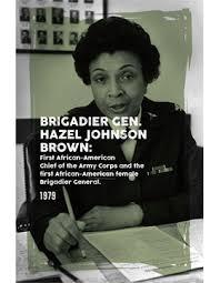 Black History Poster Hazel Johnson Brown | US Military