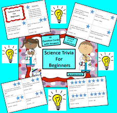 science trivia for beginners question answer cards trivia this set of 50 question and answer cards will get kids thinking like a scientist the number of stars on each card indicates the number of points awarded