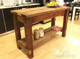 Kitchen Island Ideas simple kitchen island Outstanding Rustic Wood