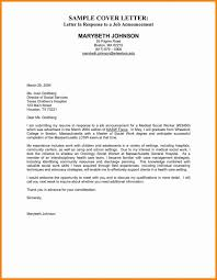 Example Of Cover Letter Employment Cover Letters Examples Cover