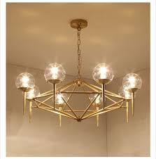 modern bronze brass glass copper chandelier light