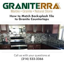 how to match backsplash tile to granite countertops