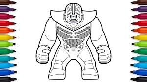 How To Draw Lego Thanos From Marvels Avengers Infinity War Youtube
