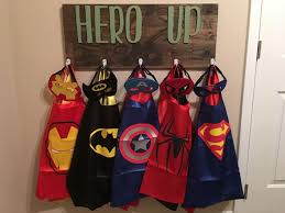 Superhero Coat Rack Hero Up Costume Rack Kids Coat Rack Custom Color Wooden Coat 4