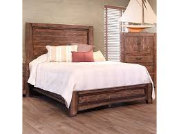 International Furniture Direct Porto Rustic Solid Wood King Low ...