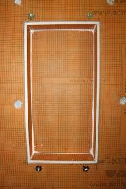 schluter shower niche board niche installed schluter shower niche shelf installation