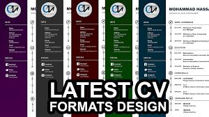 Latest Dark Colour Cv Formats Doc Files New Resume Format 2016