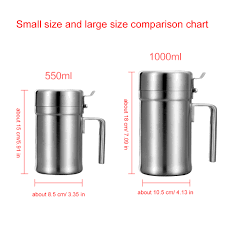Us 19 33 29 Off Large Size Stainless Steel Olive Oil Bottle Oil Pot With Cover Honey Pourer Dust Proof Soy Sauce Vinegar Storage Kitchen Tools In