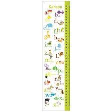 Amazon Com Alphabet Animals Children Growth Chart In Green
