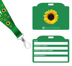 Sunflower <b>lanyard</b> and <b>ID card</b> - Products - Shop