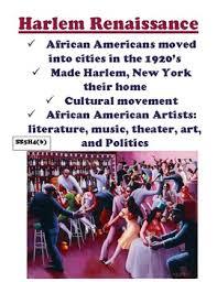 Ss5h4 B The Harlem Reniassance Anchor Chart And Handout