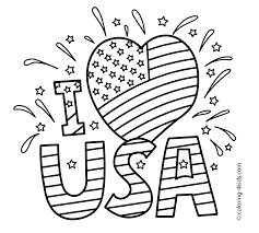 Small Picture I love USA coloring pages July 4 independence day coloring pages
