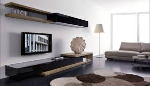 Contemporary-Antique Wall Mount TV Ideas