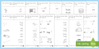 Phonetic quizzes as worksheets to print. Rise And Shine Phonics Activities Short Vowel Sounds