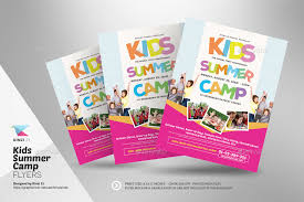Kids Summer Camp Flyer Templates By Kinzishots Graphicriver