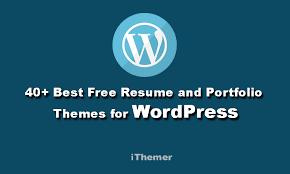 41 Best Free Resume And Portfolio Wordpress Themes Ithemer