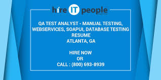 Database Testing Resumes Qa Test Analyst Manual Testing Webservices Soapui Database