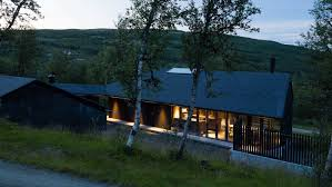 Concrete Cabin All Black Timber Geilo Cabin Makes The Most Of The Winter Sunlight