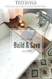 make your own bathtub caddy