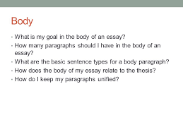building an essay basic essay structure ppt video online  10 body