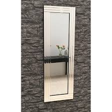 full length clear glass triple frame mirror 120 x 40 cm exclusive mirrors