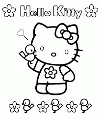 Coloring Pages To Print Free Printable Hello Kitty Coloring Pages