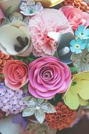Cardstock Paper Flower Paper Flowers Wedding Bouquet Boutonniere Cardstock Flowers Gold