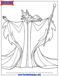 Small Picture Walt Disney Sleeping Beauty Villain Maleficent Coloring Page H