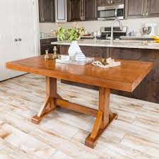 antique brown 60 in millwright wood dining table