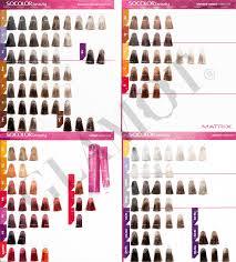 Bright Matrix Socolor Hair Chart Matrix Hair Color Charts