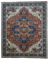 8 x 10 vintage heriz hand knotted wool rug mediterranean area rugs by rug and more