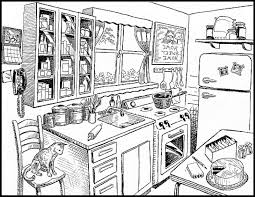 clean kitchen clipart black and white. Wonderful White Clean Counter Cliparts 2650921 License Personal Use With Kitchen Clipart Black And White Library
