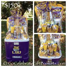 a 3 foot tall deluxe lsu lgate gift basket in a 60 quart rolling cooler 150 00 from go celebrate gift baskets lsu lgate giftbasket lsutigerfan